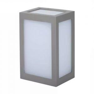Grijze moderne buitenlamp, Kicky, kunststof, 12w 3000K (warm wit) LED.
