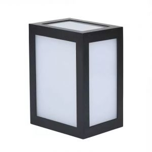 Zwarte moderne buitenlamp, Kicky, aluminium, 12w 4000K (wit) LED.