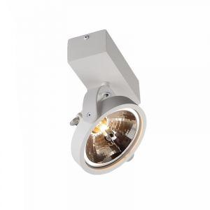 Witte plafond-/wandspot Melby, aluminium