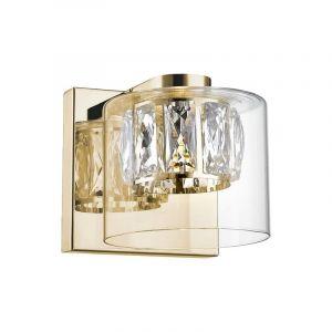 Design wandlamp Maxwell, transparant, glas, geïntegreerde LED