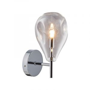 Design wandlamp Meyke, chroom, glas