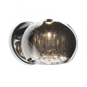 Design wandlamp Mayla, grijs, glas