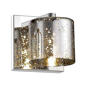 Design wandlamp Hava, zilver, glas