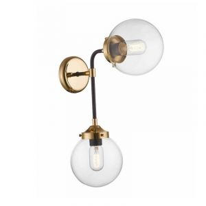 Design wandlamp Reyer, zwart, glas