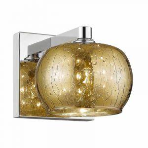 Design wandlamp Mayla, goud, glas