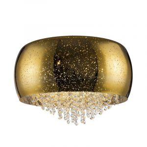 Design plafonniere Melody, goud, glas