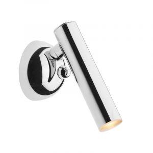 Design wandlamp Fikriye, chroom, metaal, geïntegreerde LED