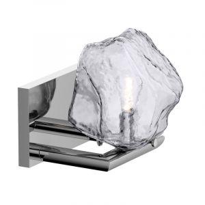 Design wandlamp Giorgio, chroom, glas