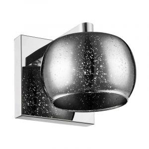 Design wandlamp Melody, zilver, glas