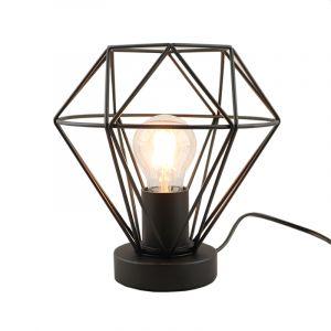 Stoere, industrie tafellamp met touchdimmer Jochem, Gaaslook