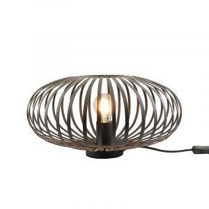 Zwarte tafellamp met aan/uit schakelaar Lieve 40 cm, Rond