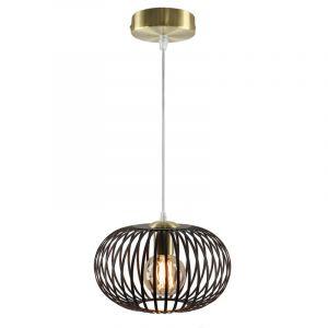 Zwart met gouden hanglamp Lieve, Rond, klein