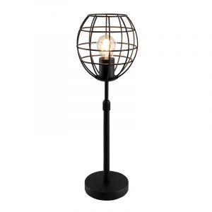 Industriële staande tafellamp met aan/uit schakelaar Jochem Bolvormig