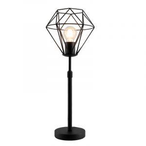 Stoere, industrie staande tafellamp met aan/uit schakelaar Jochem klein