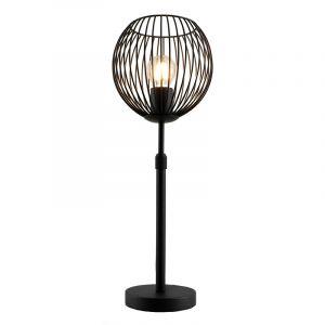 Zwarte staande tafellamp met aan/uit schakelaar Wiro 20 cm, Rond