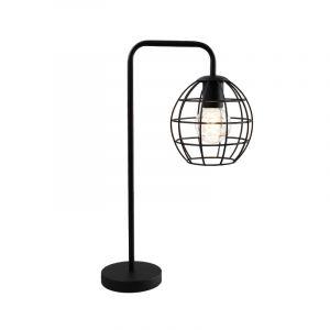 Industriële gebogen tafellamp met aan/uit schakelaar Jochem Bolvormig