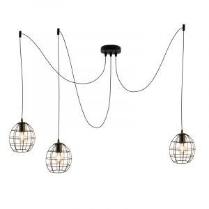 Industriële 3L spinnenweb hanglamp Jochem Bolvormig