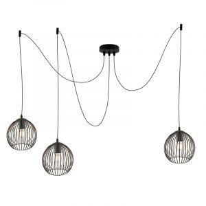 Industriële 3L spinnenweb hanglamp Wiro Bolvormig klein