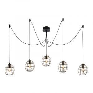 Industriële 5L spinnenweb hanglamp Jochem Bolvormig