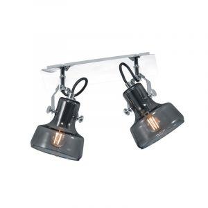 Chroom plafondlamp Kaso, Modern