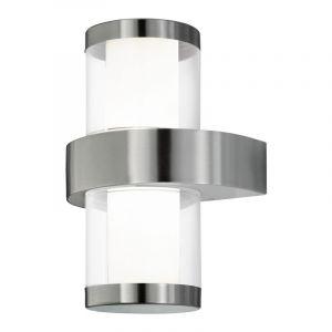 Moderne Design RVS Zilvergrijze Transparante Witte wandlamp Malia