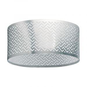 Stalen plafondlamp Kees nikkel