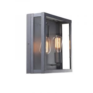 Donkergrijze Tobin II plafondlamp, 2L