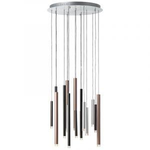 Moderne hanglamp Evi, Bruin, Koffie