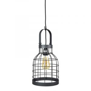 Industriële hanglamp Faber, Zwart