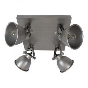 Industrie spot Redon, antiek zink, 4-lampjes