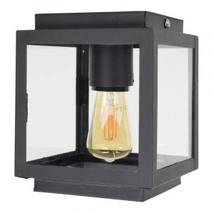 Vintage zwarte plafondlamp Mendor
