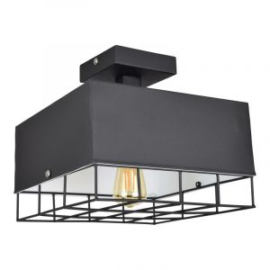 Stoere, zwarte plafondlamp Bendis
