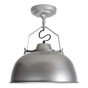 Industrieel, antiek zinken plafondlamp Lidar