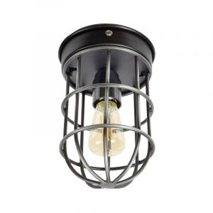 Industriële plafondlamp Nova, Vintage zwart