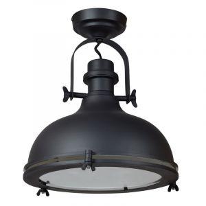 Mat zwarte plafondlamp Liga, Industrie look