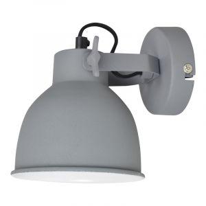 Grijze, industriële wandlamp Fenne
