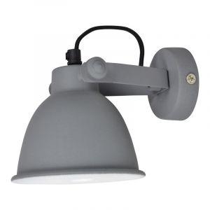 Grijze, industriële wandlamp Feres