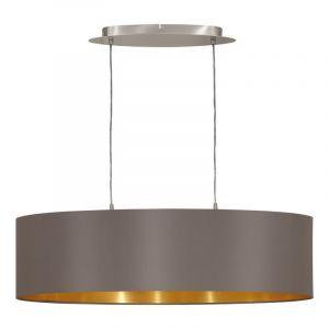 Ovale stoffen eettafel hanglamp Terme Cappucino Goud