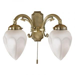 Klassieke wandlamp Esca 2 brons