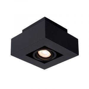 Zwarte dim to warm plafondspot Xirax, incl. 1x  5w GU10