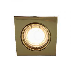 Gouden, inbouwspot Deni, Kantelbaar, Vierkant
