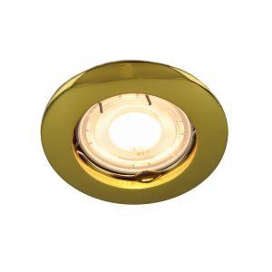 Gouden inbouwspot Lenx, Rond