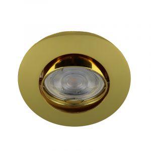 Gouden inbouwspot Lenx, Kantelbaar, Rond