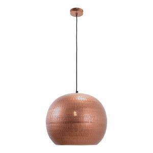 Industriële hanglamp Fawwaz, koper, rond
