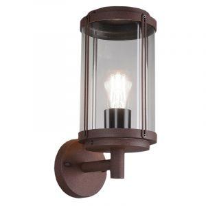 Industriële buitenlamp Sammy, Roestkleurig