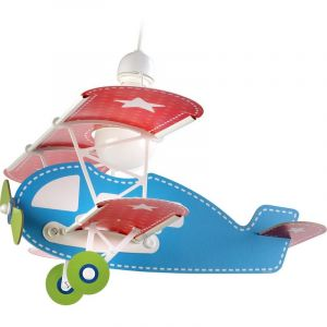 Vliegtuig hanglamp kinderen - Blauw Rood Groen