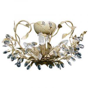Design plafondlamp Sidney I, beige en goud