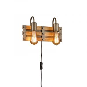 Nikkelen wandlamp Ekon, metaal, vintage