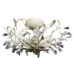 Plafondlamp Sidney I, creme en zilver