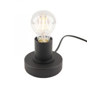 Zwarte tafellamp Rika, met touchdimmer